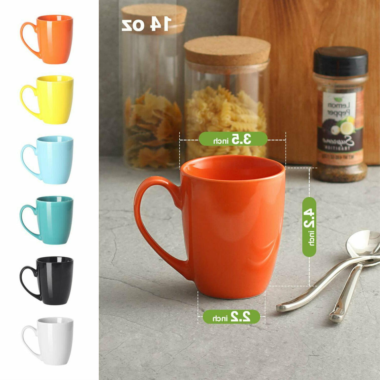 Porcelain Coffee Mug Set Of Colorful Mugs Large 14