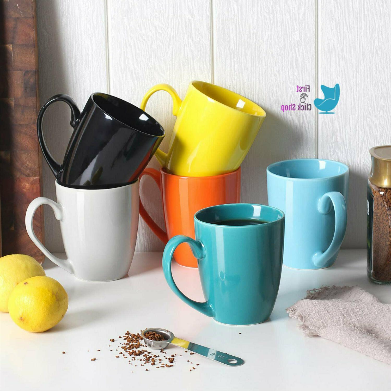 porcelain coffee mug set of six tea