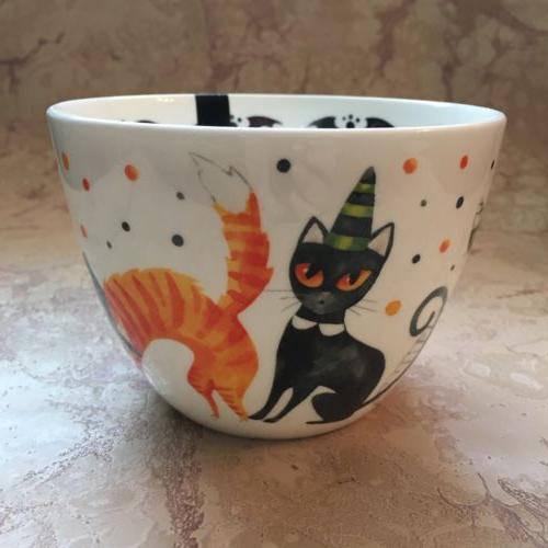 PORTOBELLO Mug Bone China HALLOWEEN CATS NEW!