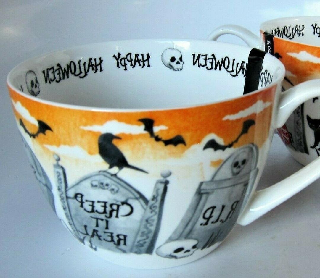 Portobello Halloween Coffee Cup Mug Witch Black Cat Bats China