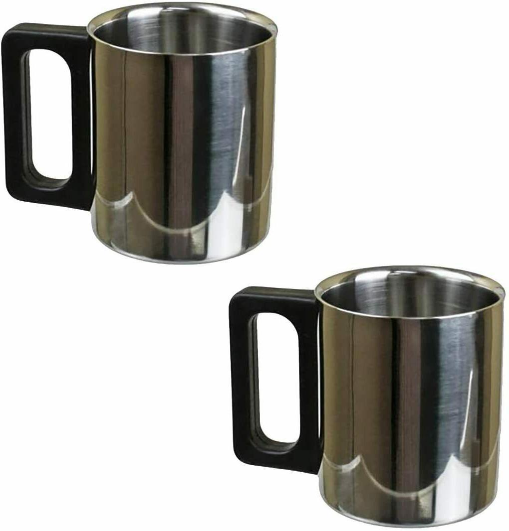 premium 12 oz stainless steel coffee mug