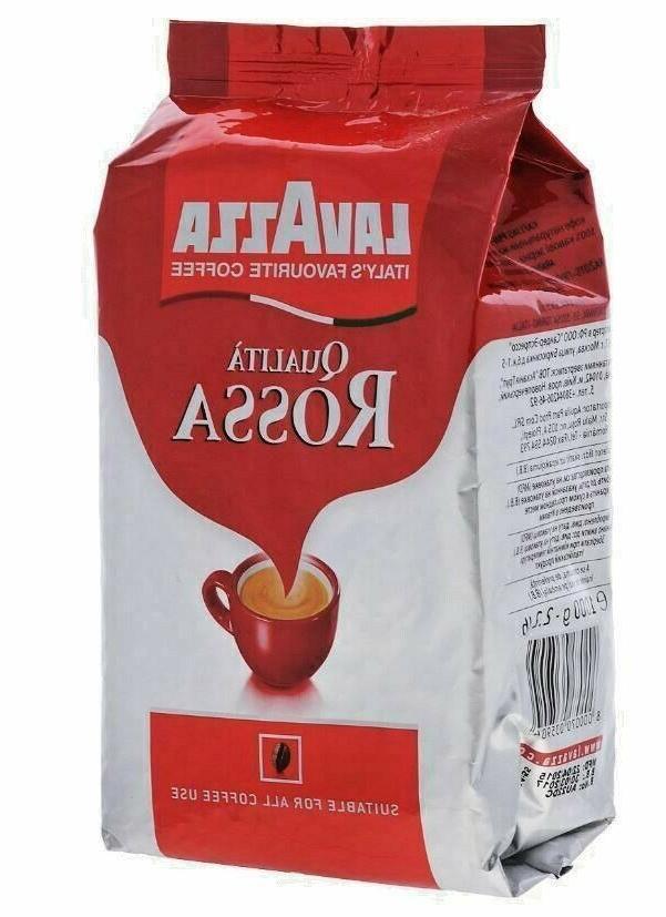 Lavazza Rossa Bean Coffee Espresso 2.2 Pounds