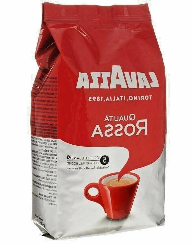 qualita rossa whole bean coffee italian espresso
