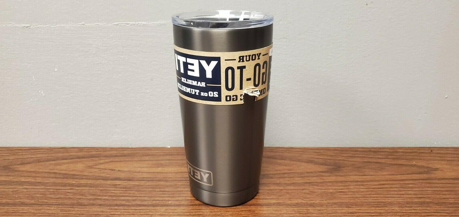 YETI Rambler Vacuum Insulated Tumbler Lid Graphite