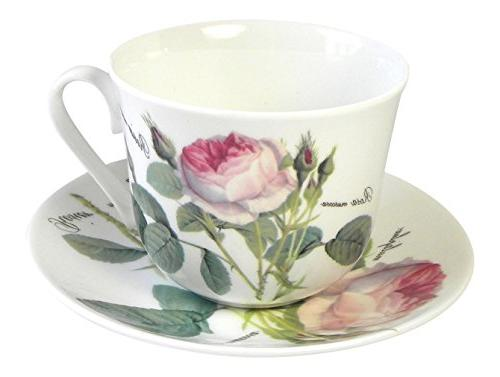 redoute rose breakfast teacup cup