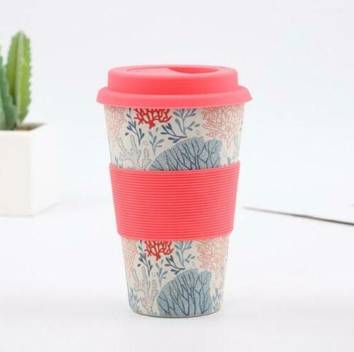 Reusable Coffee Travel Bamboo Fiber Takeaway Drinkware