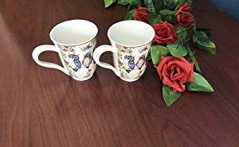 Lightahead Royal China Unique Set Two Coffee/Tea Mugs in an Family
