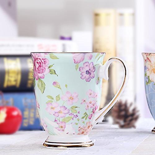AWHOME Bone China Coffee colors Cup oz