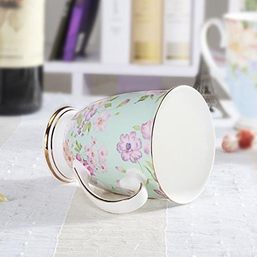 AWHOME Royal China Coffee Mug Assorted colors Cup 11 oz