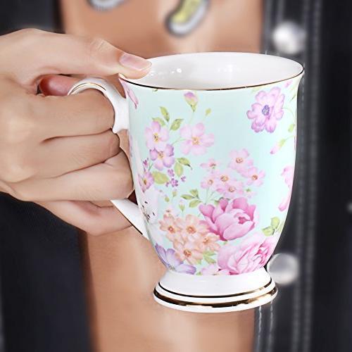 AWHOME China Coffee colors Tea Cup 11 oz
