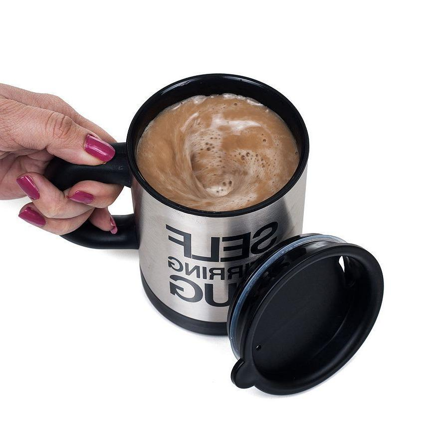Self Mug Coffee Cup Tea Home Stainless 400ml