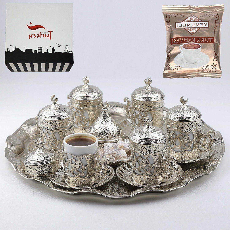Turkish Greek Arabic Coffee Espresso Serving Cup Saucer Set