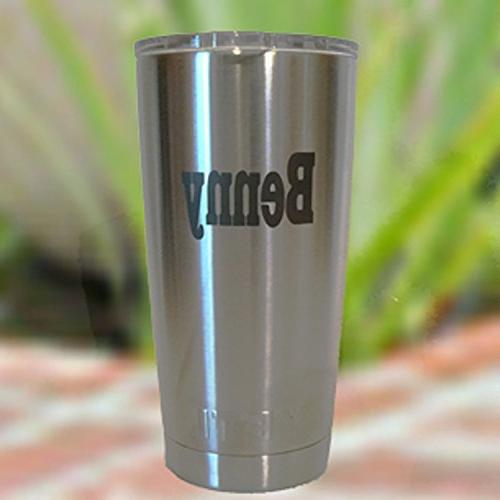 Ships Today With 2 Day Delivery Personalized Yeti Rambler 20 Oz Tumbler Includes Block Letter Name In Black Order By 1 Pm Cst