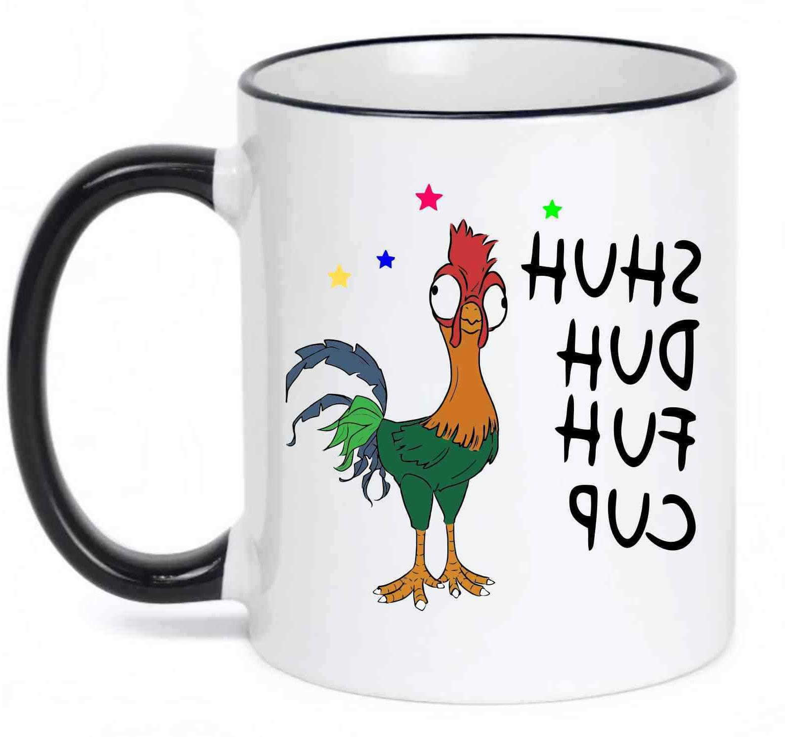 Shuh Duh Fuh Cup Funny Chicken Coffee Mug with Black Handle