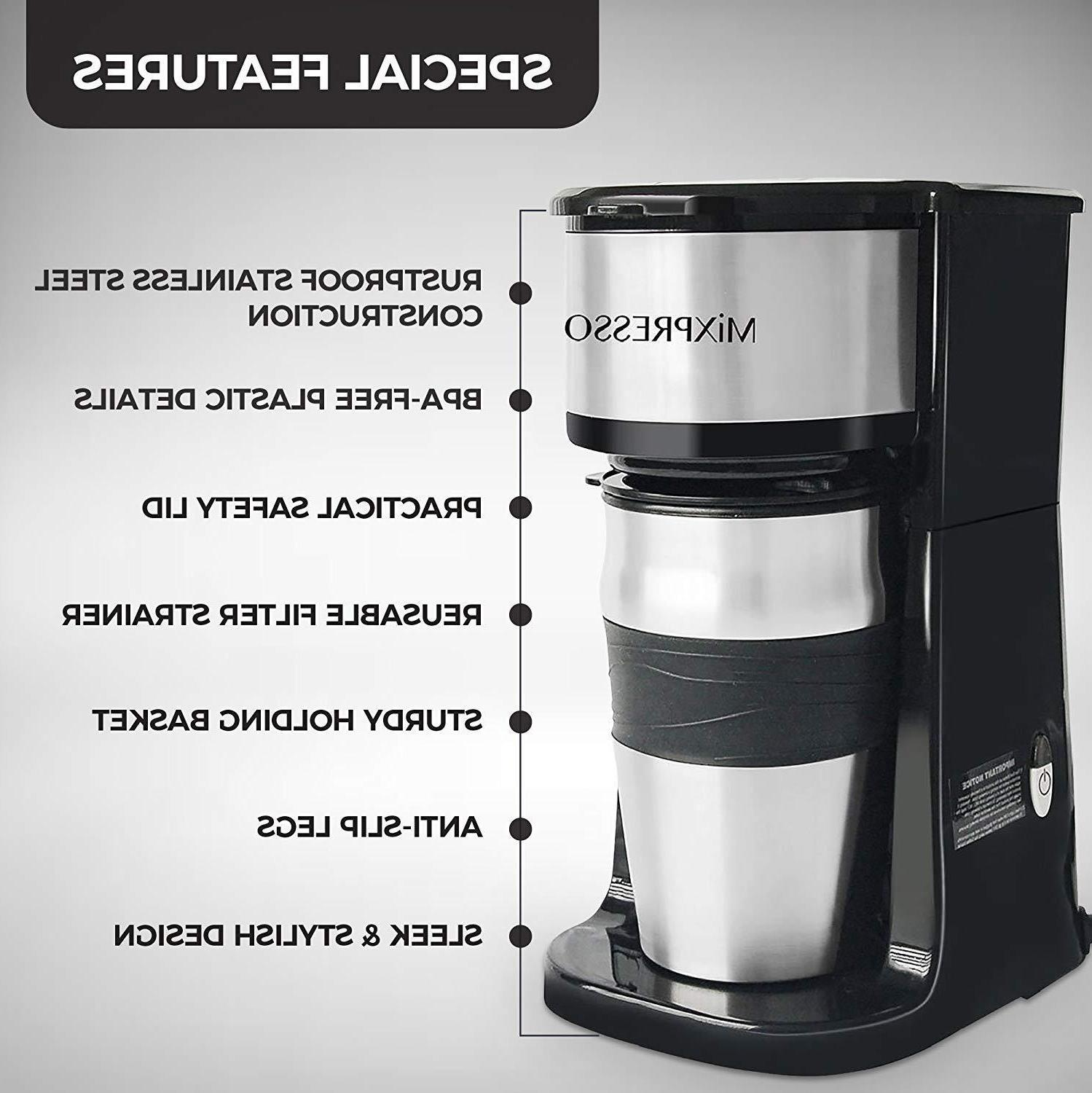 Ultimate 2-In-1 Cup Coffee Maker Travel Combo