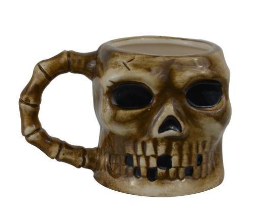 Spooky Pirate Skull Skeleton Ceramic Coffee Mug - Goth Evil
