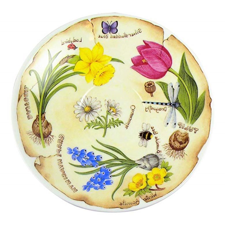 Roy Kirkham Spring Flowers Breakfast Saucer Fine England