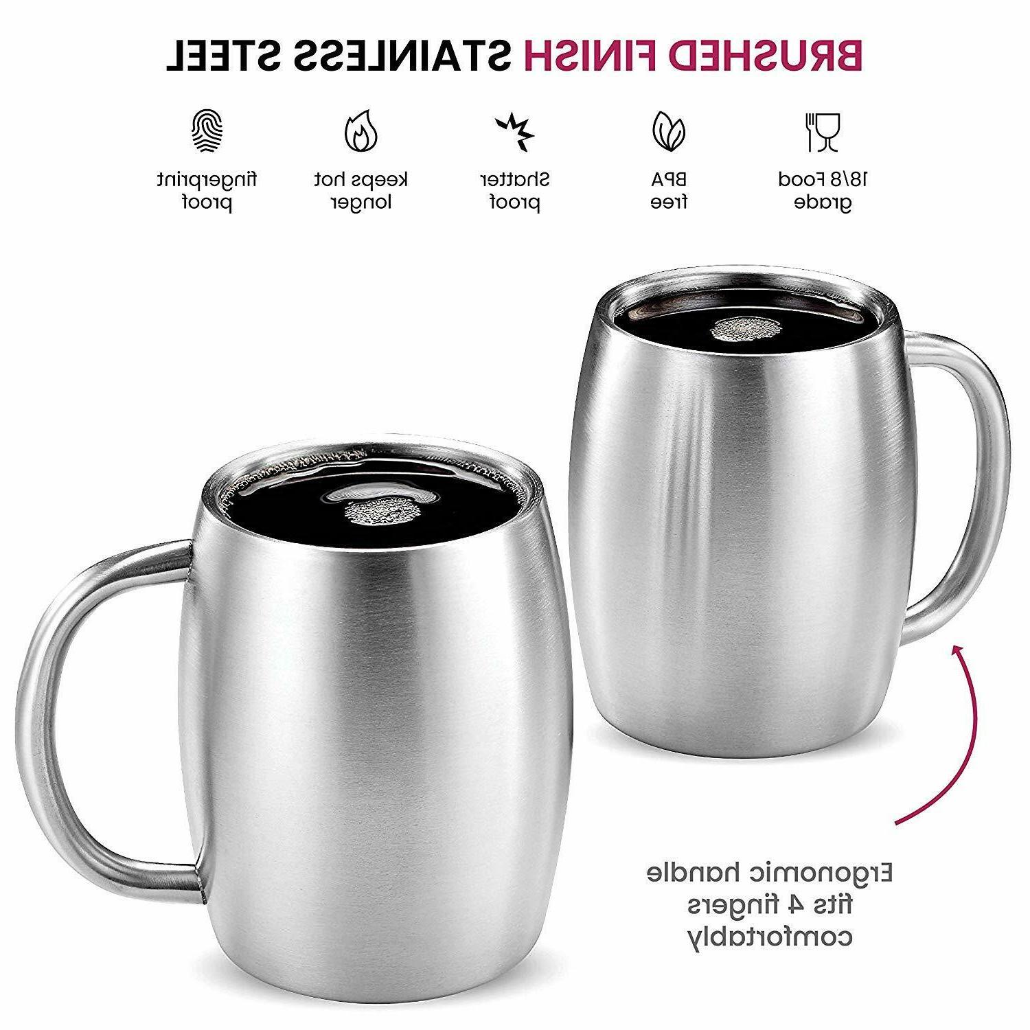 Stainless Coffee Mugs with Double BPA Free oz