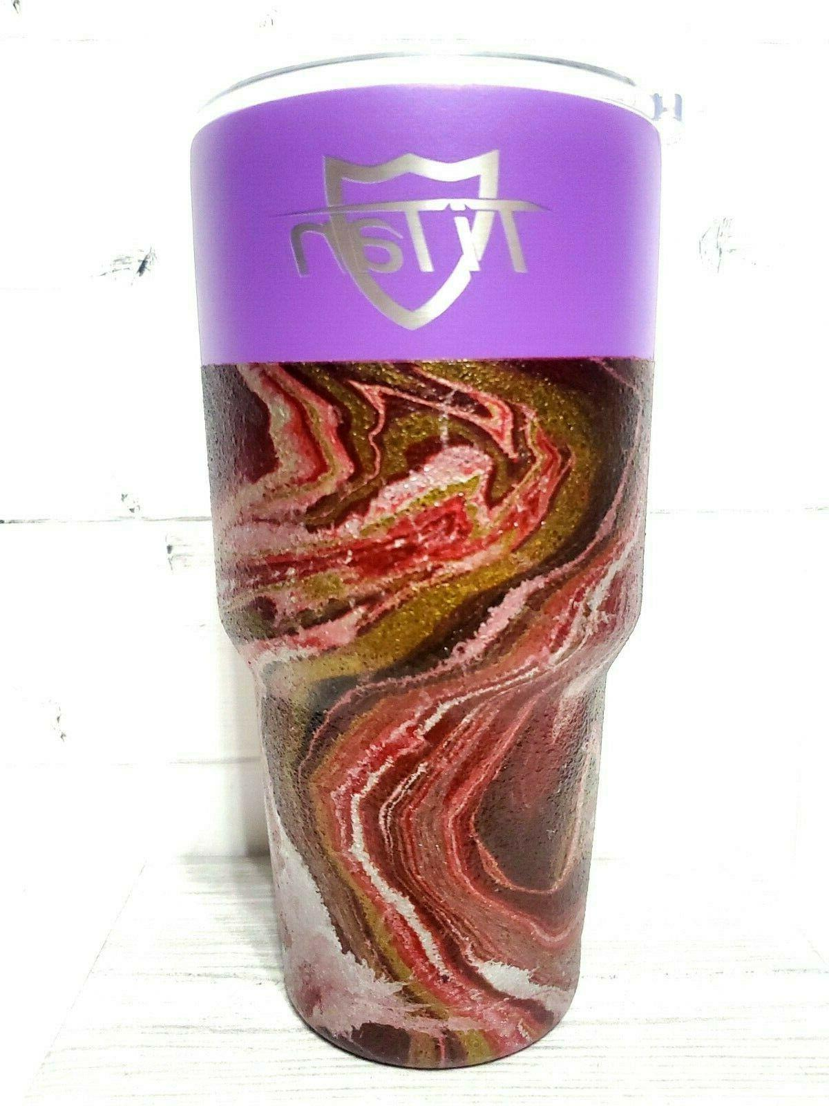 Insulated travel Coffee mug Lid 30 OZ