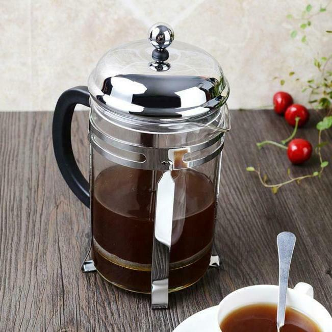Stainless Press Coffee Maker 8 Cup/4 Coffee Pot