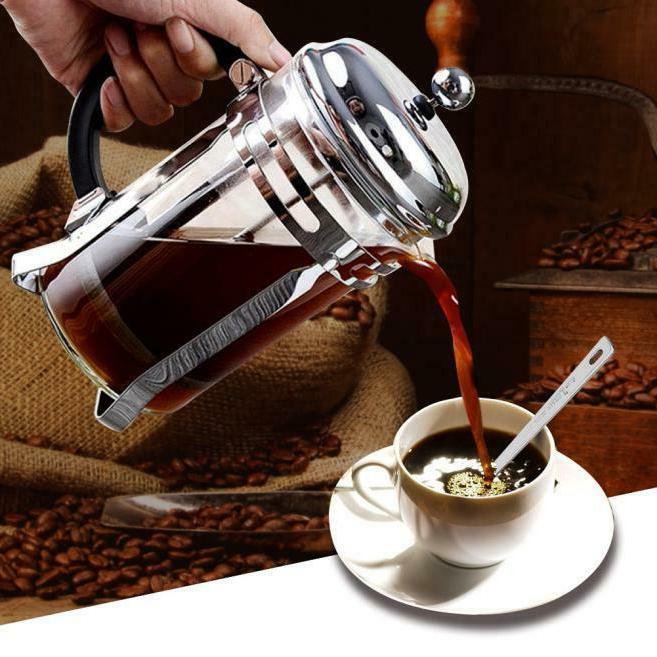 Stainless French Press Coffee Maker Mug 34 Chrome Coffee Pot
