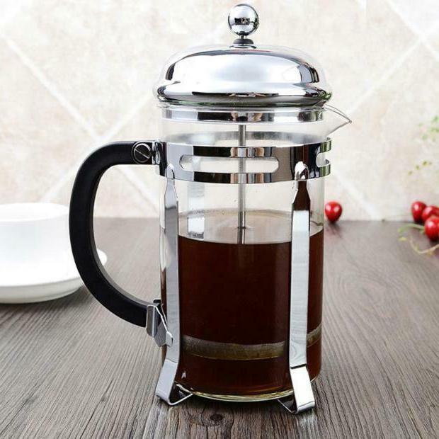 Stainless French Press Coffee Maker 8 Cup/4 Mug OZ Chrome Coffee Pot