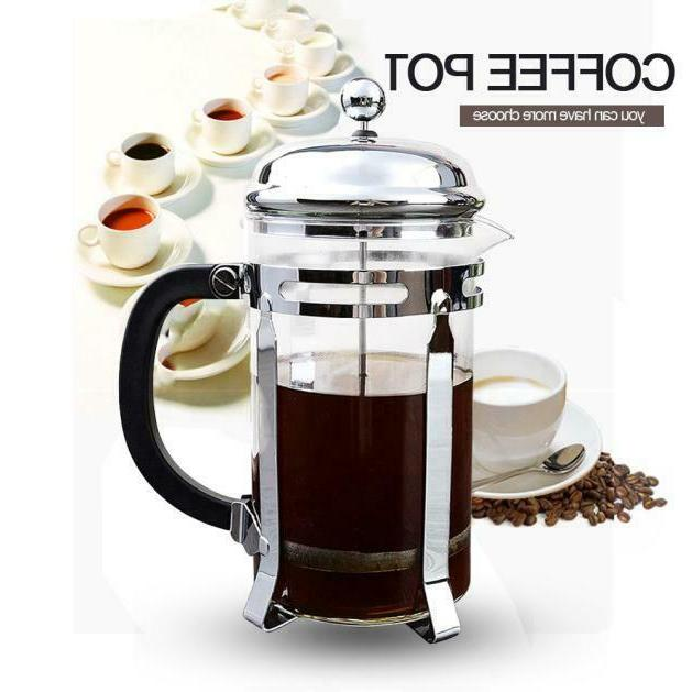 stainless steel french press coffee maker 8