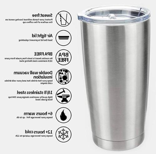Stainless Tumbler oz Insulated Coffee Travel Gift