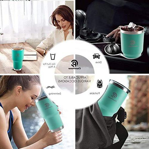 CHANTPOWER Travel Spill Stainless Travel Coffee Mug for Cold Hot