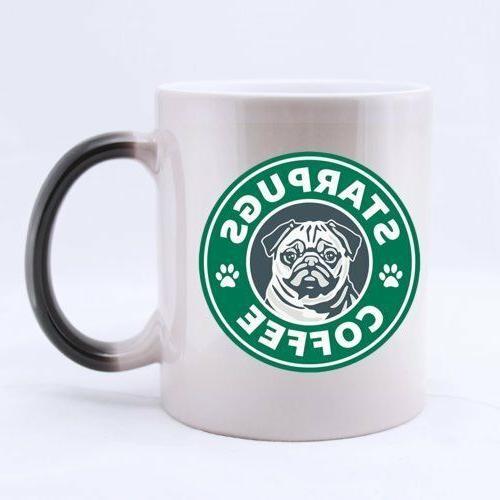 star pugs ringer mug printed ceramic coffee
