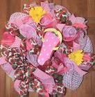 ~Handmade * Strawberry Summer* Wreath Spring/ Summer* Flipfl