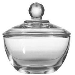 Anchor Hocking Sugar Bowl With Cover Presence 8 Oz Crystal