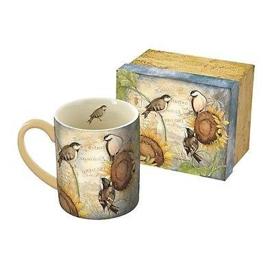 Sunflower Birds 14 oz Mug, Coffee & Tea by Lang Companies