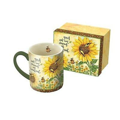 sunflowers lang 14 oz mug coffee