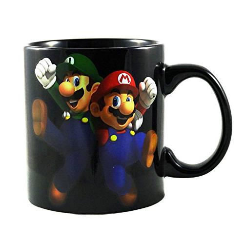Super Mario Game PREMIUM &Tea Mug/Cup - Funny Fan Party Gift Monopoly, 20 OZ