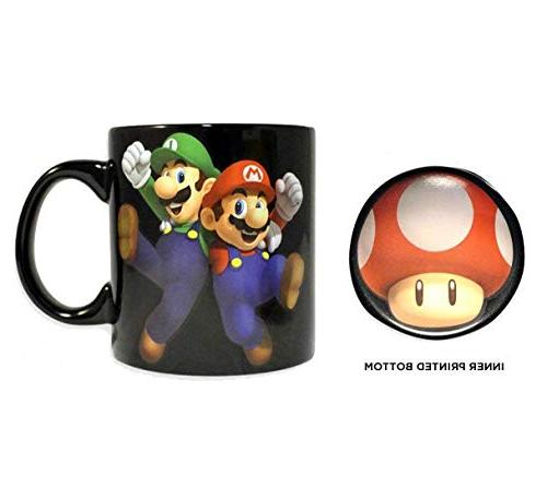 Super Mario Bros. Game PREMIUM Coffee &Tea Mug/Cup - Funny Monopoly, 20 OZ