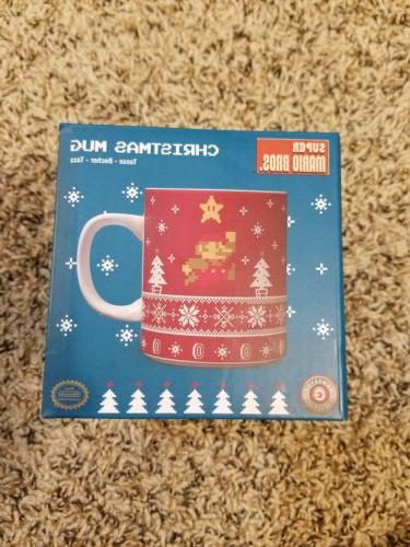 super mario bros christmas sweater holiday mug