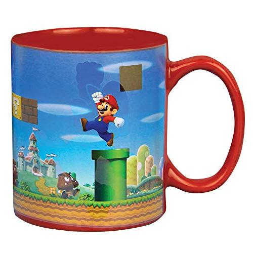 super mario heat change mug
