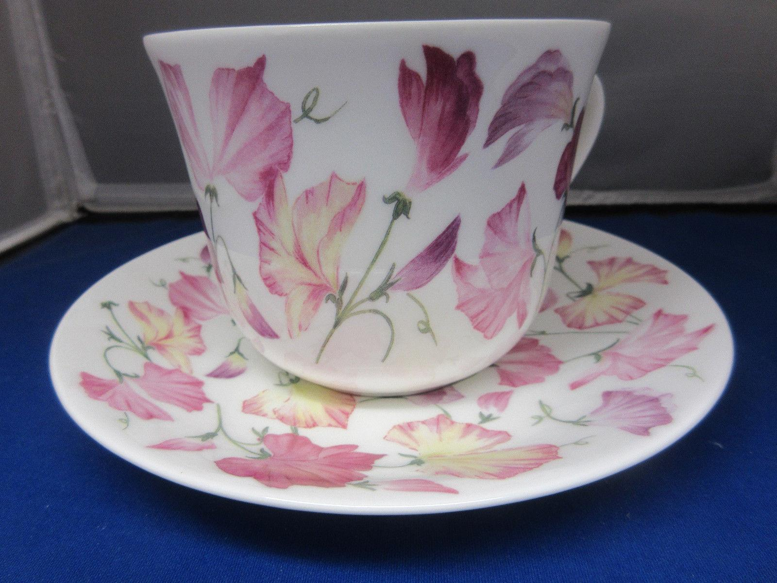 SWEET PEA , BONE CHINA SAUCER, IN ENGLAND