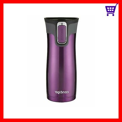 Tea Coffee Travel Mug Contigo Autoseal Lid Stainless Steel T