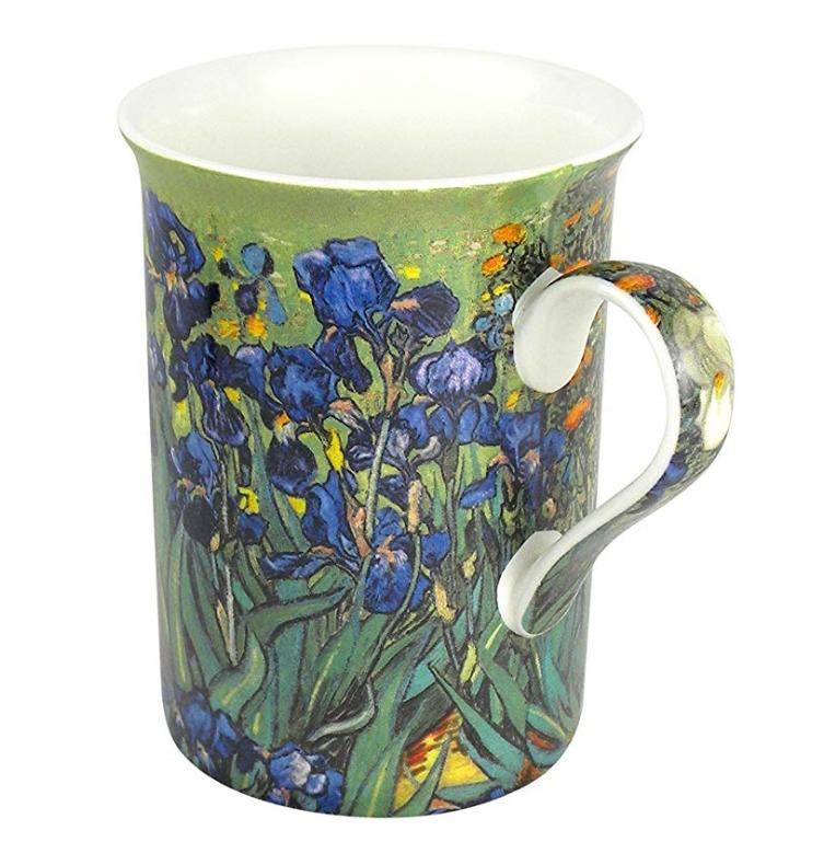 tea mug cup coffee van gogh iris