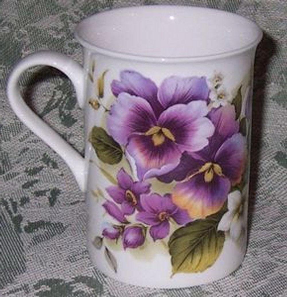 tea or coffee mug 10 oz purple