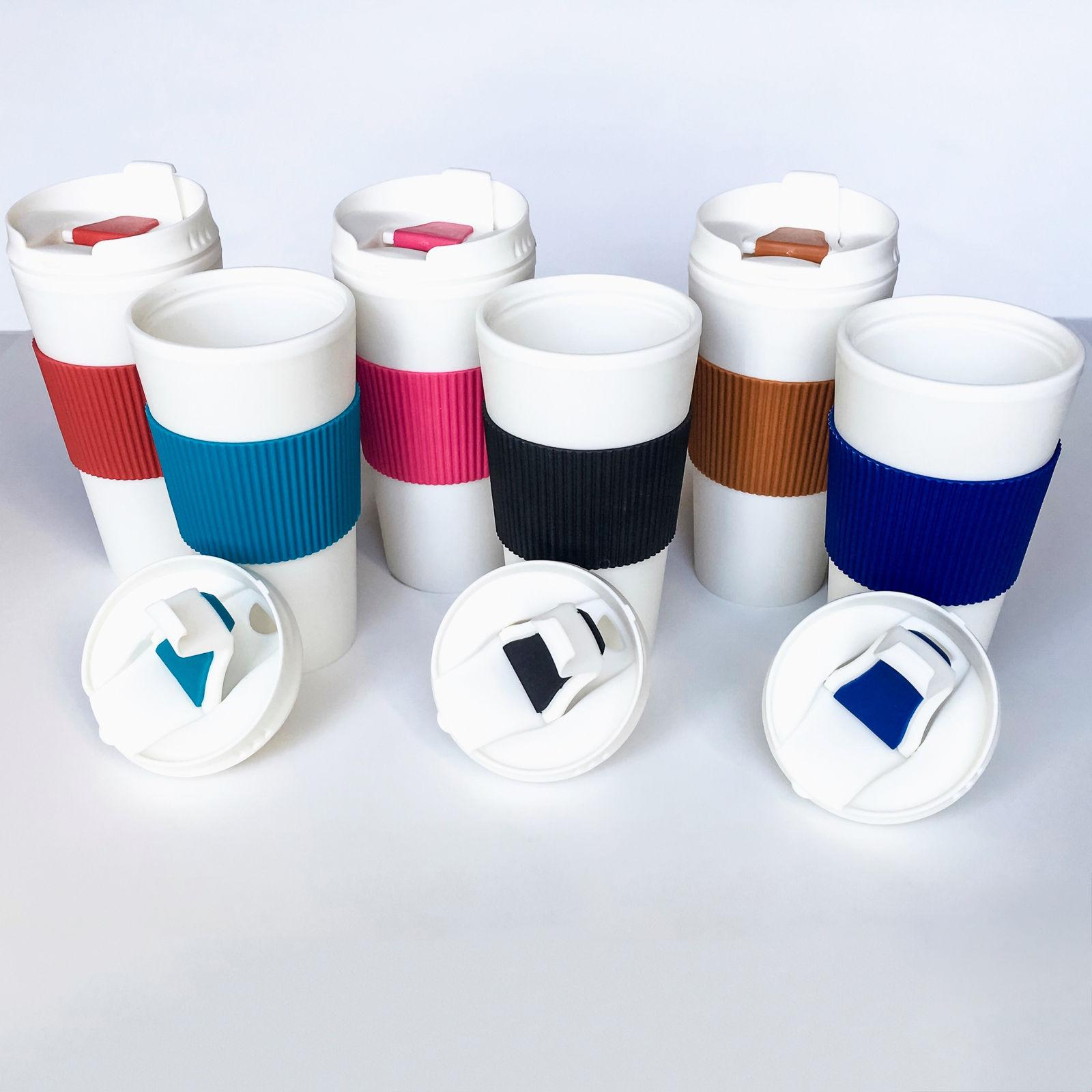 Thermal-16 Travel Mug Cup Flip Lid with-Rubber-Hand-Protector $5.99
