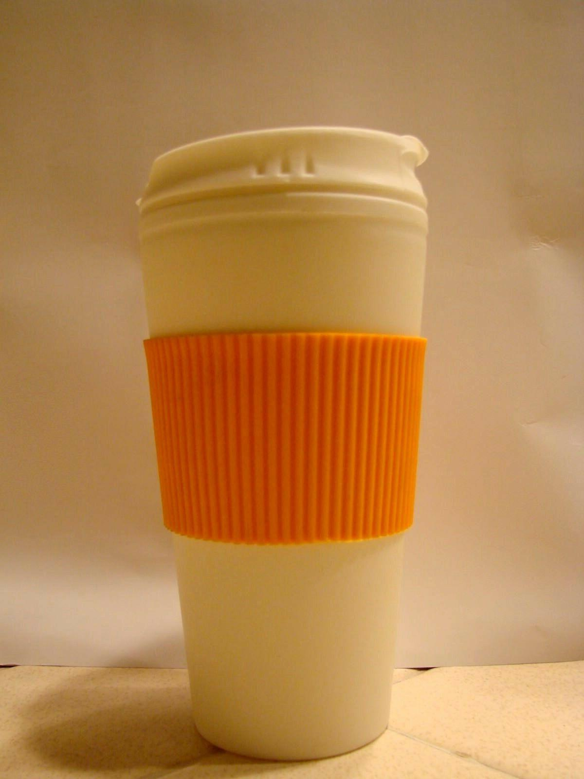 Thermal-16 oz Coffee Mug Cup Flip Lid with-Rubber-Hand-Protector