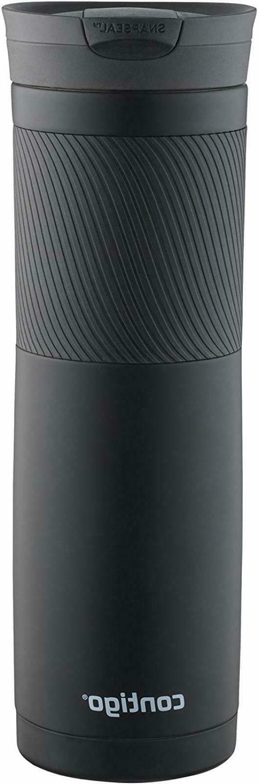 Travel Coffee Mug Cup Matte Black Thermal Insulated Large To