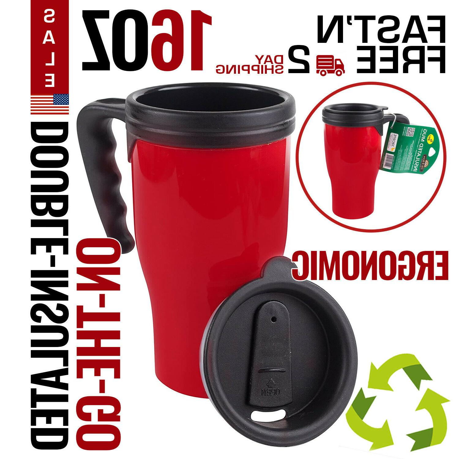 travel coffee mug cup stainless steel thermal