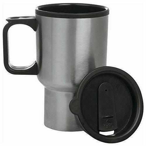 Travel Coffee Mug Insulated Steel Cup Leak Spill