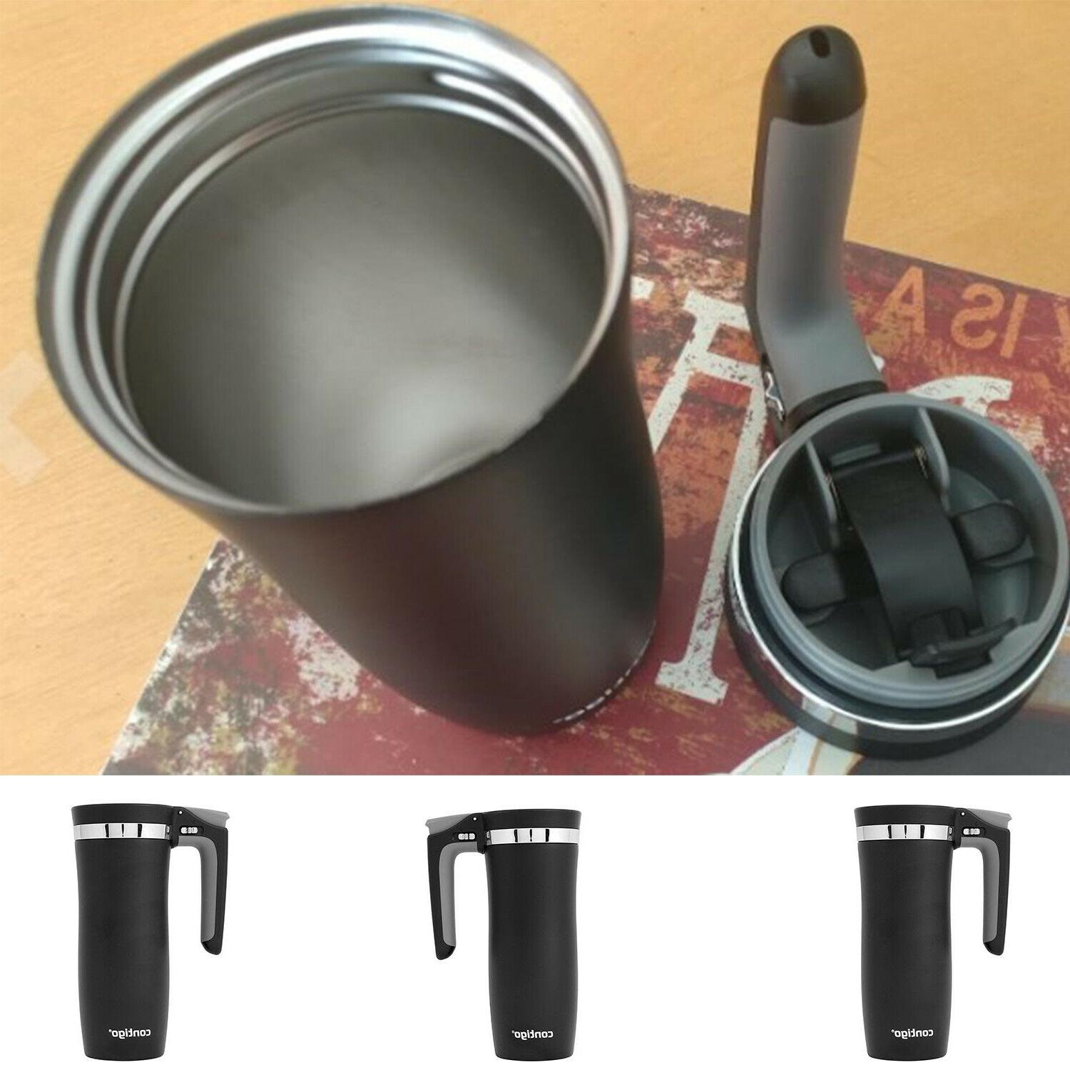 Vacuum Thermos 16 oz Stainless Steel Travel Mug Cup Hot Cold