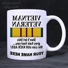 Vietnam Veteran Personalized 11oz Coffee Mugs Made in the US