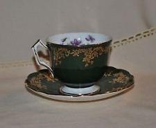 Vintage Aynsley England Fine English Bone China Green & Gold